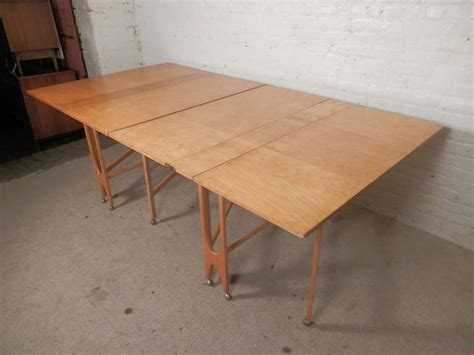 fold out dining table massive mid century maple fold out dining table for sale
