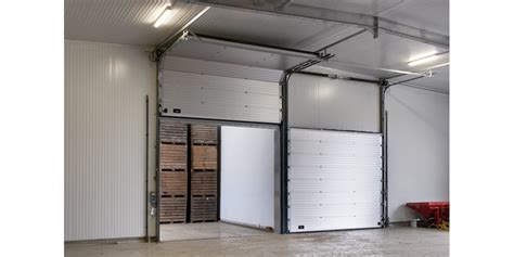 insulated sectional overhead doors thermal overhead sectional door from assa abloy entrance
