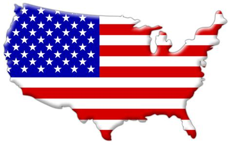 usa map and flag american flag inside country map outline