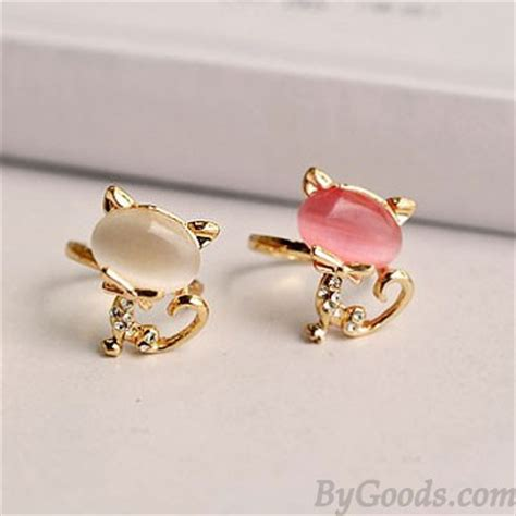opal cat index finger opening ring fashion rings