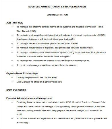 financial manager description 8 free word pdf format free premium templates