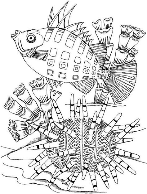 Seascape Ocean Coloring Page Coloring Pages For Seniors
