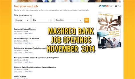 mashreq bank careers mashreq bank uae opportunities 2014 dubai ofw