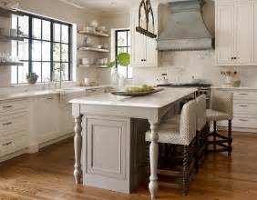 wood legs for kitchen island gray kitchen island with turned legs transitional kitchen