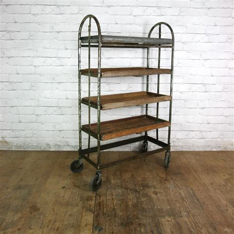vintage industrial factory shoe rack trolley 1 retail