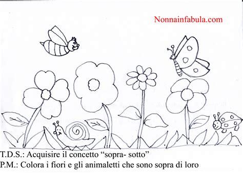 disegni con farfalle e fiori progetto i fiori per bambini di 3 4 anni nonna in fabula