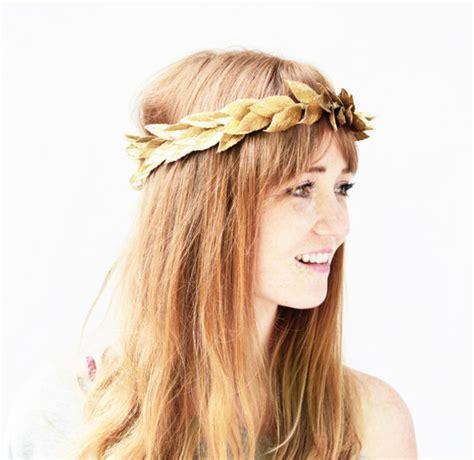 Crown Hair Band hair accessory gold crown hair band headband leaf