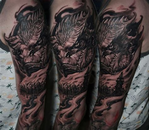 smaug tattoo best 25 smaug ideas on tolkien