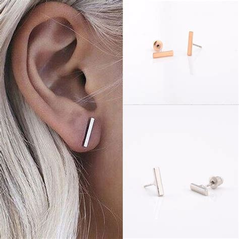 Geometry Ear Stud fashion simple t bar earrings ear stud earrings