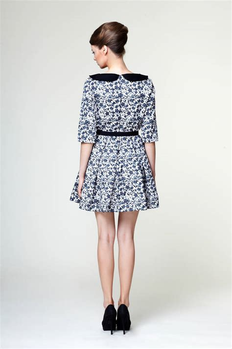 Mini Dress Mrs anouk mini dress with pan collar by mrs pomeranz