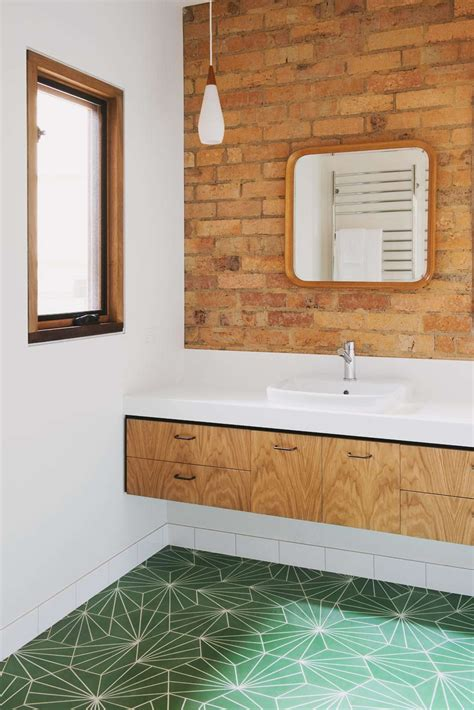 Modern Bathroom Floor Tile Pokey 1960s Home Gets A Much Needed 21st Century Reboot