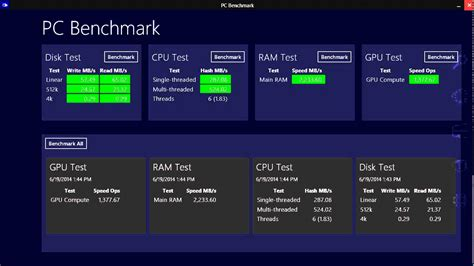 bench mark tool windows 8 1 pc benchmark test app review youtube