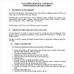 cleaning contract templates cleaning contract template 27 word pdf documents