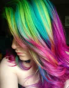 rainbow color hair ideas rainbow hair color ideas 2017