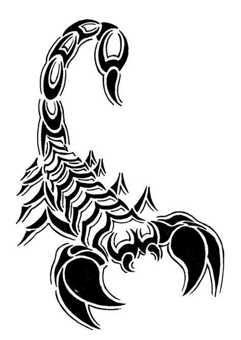 Scorpion Tribal Outline by De Angeleyes Angeleyes Drawing Scorpion Tribal Motif Tatooage Clipart Best Clipart Best