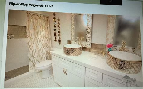 flip or flop vegas white and gold bathroom home gold