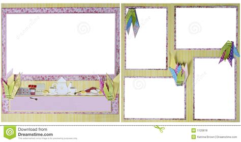 download layout frame tea party scrapbook frame template royalty free stock