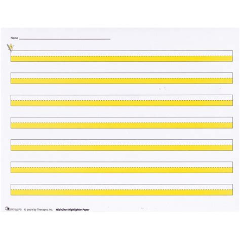 printable highlighted writing paper maxiaids widelines highlighter writing paper package of 50