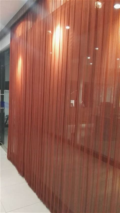 coil curtain wire mesh coil drapery gives home and halls magnificent effect