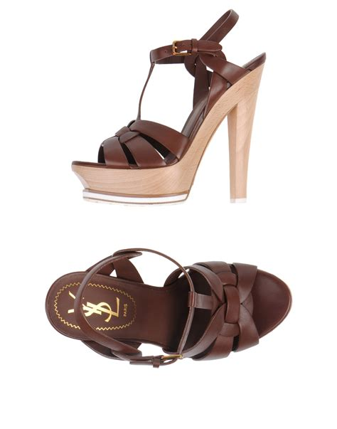 yves laurent sandals yves laurent rive gauche sandals in brown