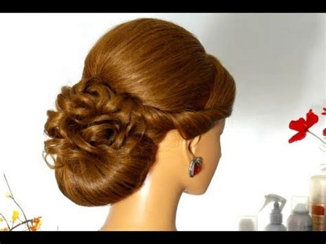 wedding prom updo hairstyle for hair tutorial