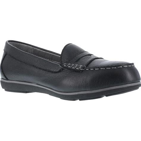 s steel toe sd black loafer rockport top shore
