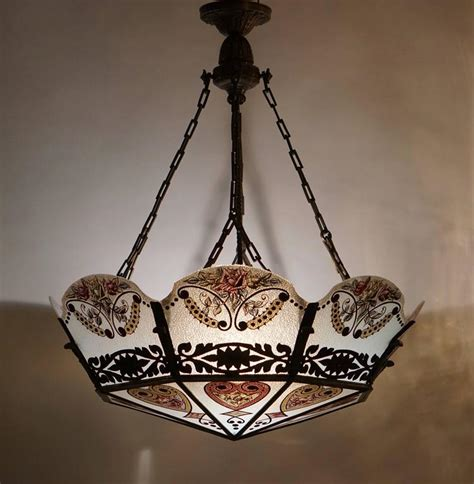 Stained Glass Chandelier For Sale At 1stdibs Stained Glass Chandeliers