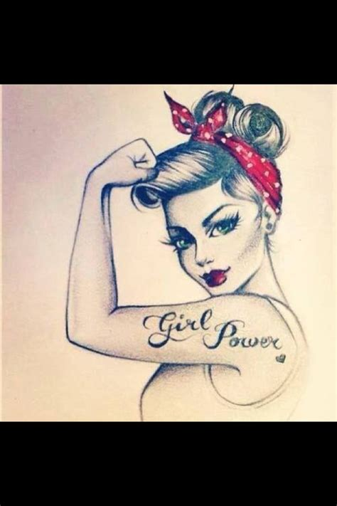 girl power tattoo power idea