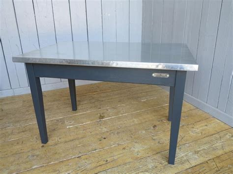 zinc topped table