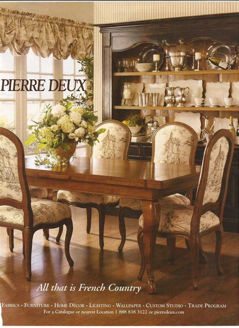 french country dining  pierre deux french country