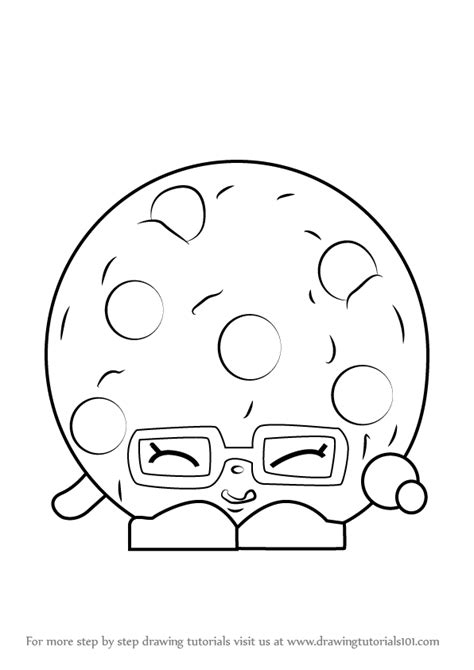 Shopkins Coloring Pages Easy | step by step how to draw candy cookie from shopkins
