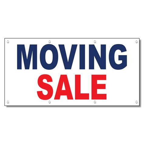 Moving Sale At Makeupcom by Moving Sale Blue 13 Oz Vinyl Banner Sign With Grommets