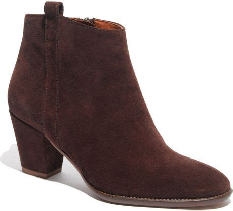 madewell billie boot madewell the billie boot in suede in brown vintage stout