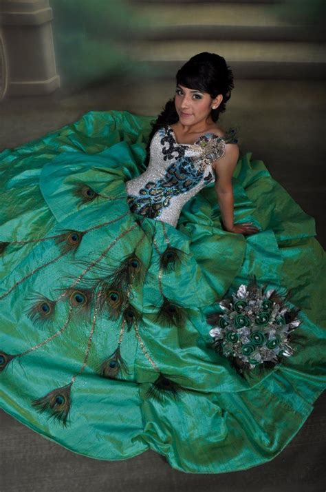peacock themed quinceanera dresses peacock quinceanera dress dresses pinterest