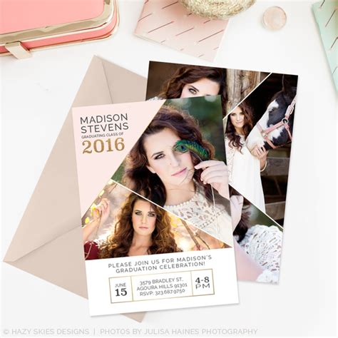 graduation announcements templates for photographers senior graduation announcements polished