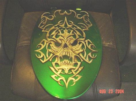 custom airbrush painted toilet seats commode covers  bad