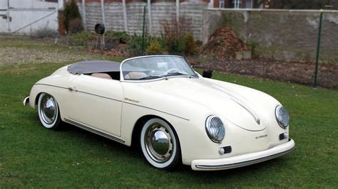 porsche 356 speedster white porsche 356 speedster front view wallpaper