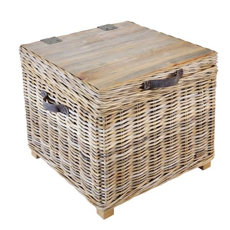 Storage Side Table Washed Rattan Storage Side Table By The Orchard Furniture Notonthehighstreet