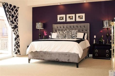 home decor accent black and white decor really pop with the purple accent wall home decorating inspiration