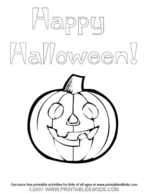 smiling pumpkin coloring pages happy halloween pumpkin coloring page