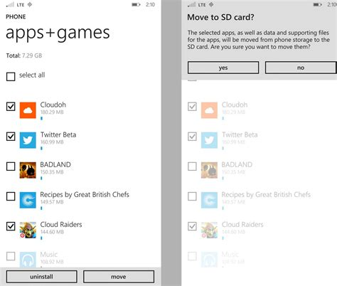 how to make apps to sd card automatically move apps or to an sd card in windows phone 8 1