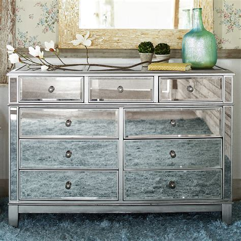 hayworth bedroom furniture hayworth mirrored silver dresser dresser ships and store
