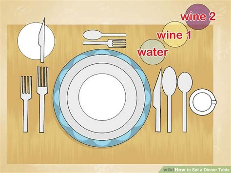 how to set a table for dinner 3 ways to set a dinner table wikihow