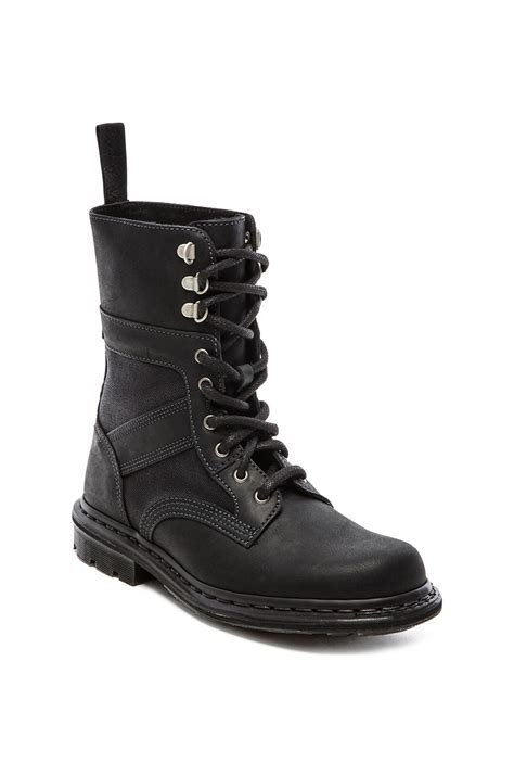mens boots fold dr martens arun fold boot in black for lyst