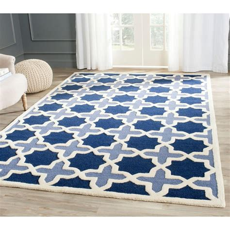10 X 13 Blue Ivory Rug - safavieh cambridge blue ivory 10 ft x 14 ft area rug