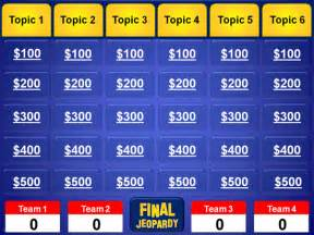 jeopardy template for powerpoint hunger jeopardy