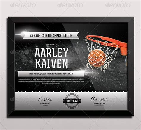 basketball certificates templates free sports certificate templates free word pdf documents