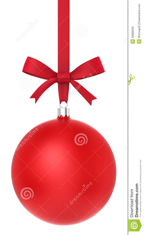 red christmas ball  nice bow royalty  stock images image
