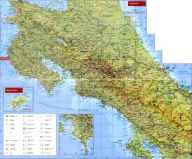 detailed road map of costa rica large detailed road and topographical map of costa rica costa rica large road and topographical