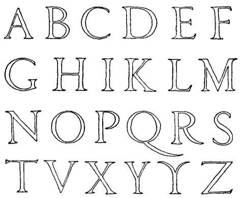 printable roman alphabet sta disegno di lettere alfabeto da colorare